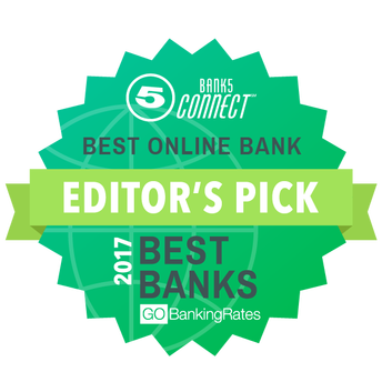 Bank5 Connect best online bank Editor's pick 2017 best banks GOBanking Rates