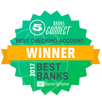 Bank5 Connect best checking account Winner 2017 best banks GOBanking Rates